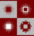 cpu microprocessor bordo and vector image vector image