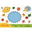 education paper game for children hedgehog vector image vector image