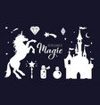 fairy tale silhouette collection with vector image vector image