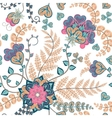 Fantasy flowers seamless hand drawing pattern vector image vector image