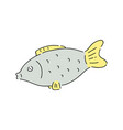 fish drawing isolated on white background vector image