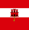 flag gibraltar close up vector image vector image