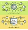 Flat line Business Management and Planning Concept vector image vector image