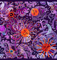 floral seamless pattern texture effect indian vector image vector image