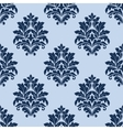 Floral seamless pattern with blue flowers vector image vector image