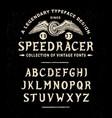 font speed racer vector image vector image