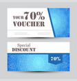 gift voucher template with mandala design vector image vector image