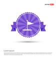 golf flag icon - purple ribbon banner vector image