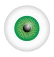 green iris eyeball mockup realistic style vector image