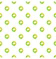 Green refresh arrows pattern cartoon style vector image