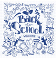 hand-drawn back to school sketchy notebook vector image