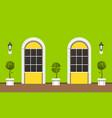 house facade landscaping vector image