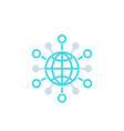 international business global markets icon vector image