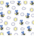 isolated bee draw cartoon background vector image