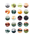 landscape nature mountains ocean and forest vector image vector image