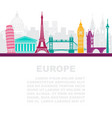 layout leaflets with sights europe vector image vector image
