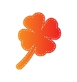 Leaf clover sign Orange applique isolated vector image vector image