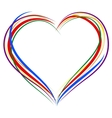 LGBT heart symbol Sign of heart outline Rainbow vector image vector image
