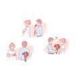 love romantic relation invitation set vector image