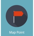 Map Point Flat Icon Concept vector image
