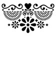 mexican folk art greeting card pattern vector image vector image