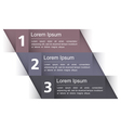 Modern Design Template with Three Elements vector image vector image