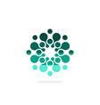modern logo circles round logo vector image