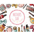 mothers day poster with cosmetics eyelashes vector image vector image