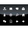Network icons on black background vector image