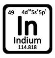 Periodic table element indium icon