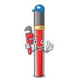 plumber lip gloss above cartoon makeup table vector image vector image