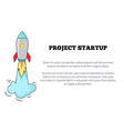 project startup image and text vector image