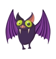 Purple bat icon cartoon style vector image vector image
