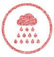 rain cloud fabric textured icon vector image