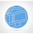 Round blue icon for diving mask vector image vector image