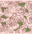 seamless pattern with roses vintage design vector image vector image