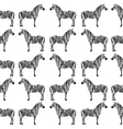 Seamless pattern with zebra silhouette vector image vector image