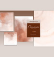 set brown watercolor stain background style vector image