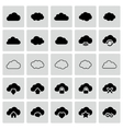 set isolated cloud icons vector image vector image