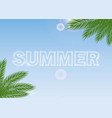 summer journey poster with tropical palm branches vector image