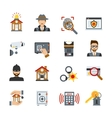 Surveillance And Security Icons Set vector image vector image