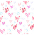 tender pattern with pink hearts and dotted element vector image