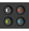 thumb button vector image vector image