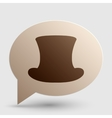 Top hat sign Brown gradient icon on bubble with vector image vector image