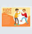 two teen boys fighting each other boy bullying vector image vector image