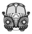 Vintage car a mini van vector image vector image