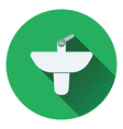 Wash basin icon vector image