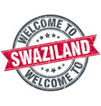 welcome to Swaziland red round vintage stamp vector image vector image