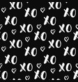 xoxo brush lettering signs seamless pattern vector image vector image