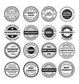 guarantee badges and logos design set vector image